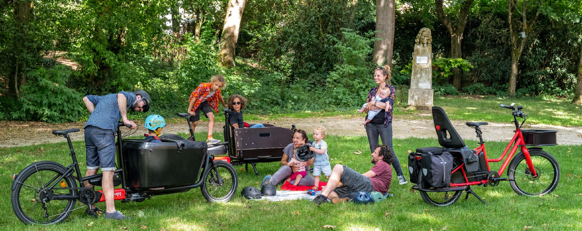 Vélo cargo électrique pour toute la famille